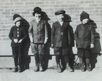 Vintage Photo - The Lineup of Kids