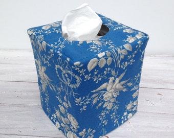 Maison Bleue reversible tissue box cover