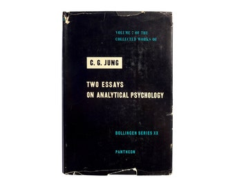 """E. McKnight Kauffer book jacket design, 1953. Volume 7 of the Collected Work of C. G. Jung """"Two Essays on Analytical Psychology""""."""