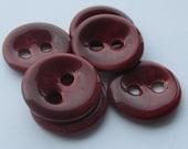 Deep Cherry Ceramic Buttons