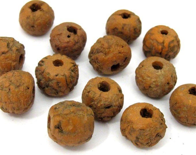10 Beads - Large size nature beads from Nepal - NB147