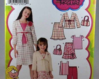 Simplicity 4669, Girls' Jacket, Pants, Skirts and Top Sewing Pattern, Lizzie McGuire Pattern, Girls' Sizes 7 to 14, Uncut