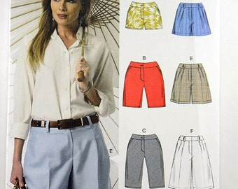 Vogue 9008, Misses' Shorts Sewing Pattern, Shorts in 3 Lengths, Easy Shorts Pattern, Sizes 14 to 22, New and Uncut