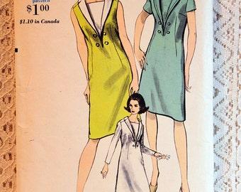 "Vogue 6482, Misses' Dress Sewing Pattern, Misses' Easy Dress Pattern, Vintage Vogue Sewing Pattern, Misses' Size 12, Bust 32"", Uncut"