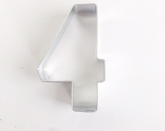 Number 4 Cookie Cutter, 4th Birthday Cookie Cutter