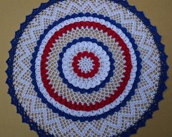 Banner of a Fourth Hand Crochet Doily - **NEW** - Lone Star Lace