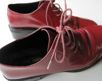 VIA SPIGA Red Leather Shoes made in Italy size 7