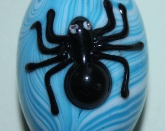 Huge Glass Spider & Egg Bead