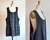Vintage 1990s MINIMALIST denim shift dress