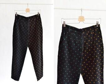 Vintage 1980s COMPLICE polka-dot pants