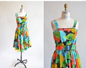 30% OFF STOREWIDE / Vintage 1980s FLORAL print dress