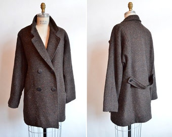 SALE / Vintage 1980s TWEED wool coat
