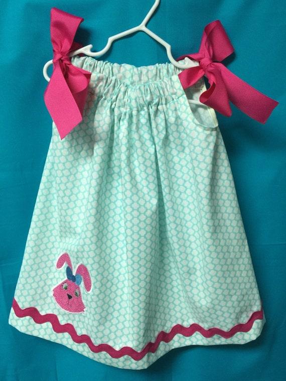Monogram Grey Chevron Easter Birthday Pillowcase Dress  3 month to 7 years old