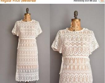 25% off SHOP SALE... 70s bohemian lace dress / vintage 1970s dress