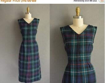 25% off SHOP SALE... 50s wool plaid vintage dress / vintage 1950s dress