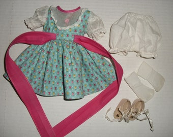 """Original Dress and Shoes for 14"""" Arranbee Nanette Hard Plastic Doll"""