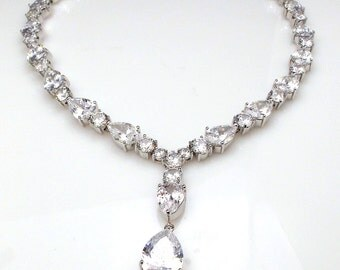 Bridal Clear White Aaa Cubic Zirconia Y Shape Luxury White