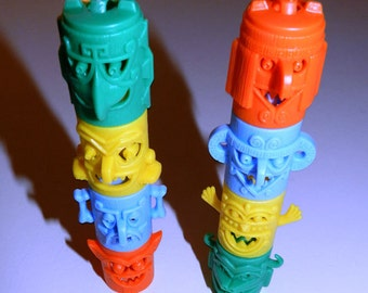 Four (4) Kellogs Cereal Premium Totem Heads