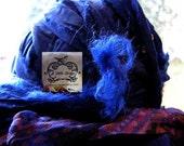 Royal Dark Blue Blend Chiffon Ribbon