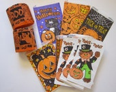 Halloween party goods - treat bags and Halloween streamers - paper goods