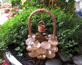 Fairy Garden Accessories, Wishing Well, Frosty Copper Glass Drops, Copper & Glass Wishing Well, Outdoor Fairy Garden