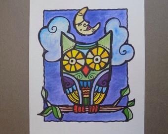 Watercolor Owl Children's Wall Decor