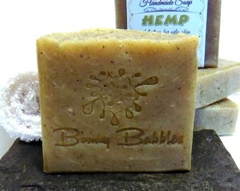 HEMP soap - essential oil blend with Aloe Vera - handmade by Bonny Bubbles - hp