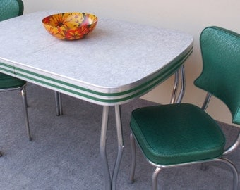 Vintage Formica and Chrome Table local  with Two Chairs PICK UP ONLY