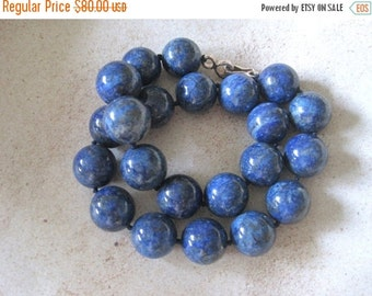 20% OFF ON SALE Hand Knotted Lapis Lazuli Necklace, Gemstone Jewelry
