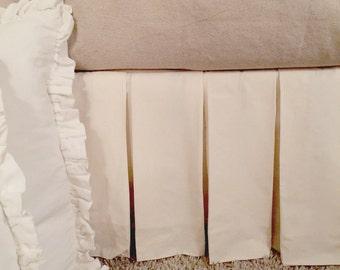 Flirty muslin Box pleated dust ruffle cottage farmhouse