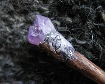 Amethyst point   shawl pin   crystal shard   raw stone   purple