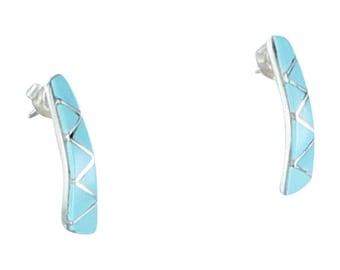 Sleeping Beauty Turquoise 7 Stone Earrings