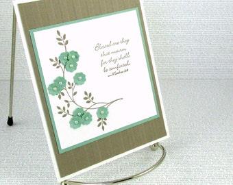 Sympathy Card Handmade Condolences Christian Comfort Compassion Empathy