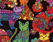 Cat Coloring - Timeless Treasures - Fat Quarter