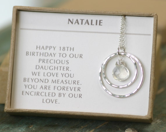 Graduation Gift For Daughter Moonstone Necklace For