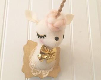 Faux Taxidermy unicorn