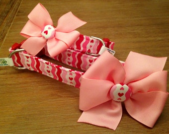 Valentines Day Dog Collar with Bow