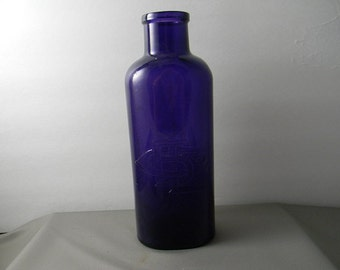 Upcycled Antique Purple Chemical Bottle
