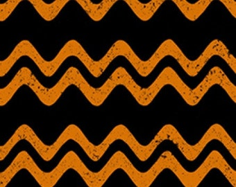 Halloween Orange and Black Rickrack - Jeepers Creepers from Clothworks - Full or Half Yard