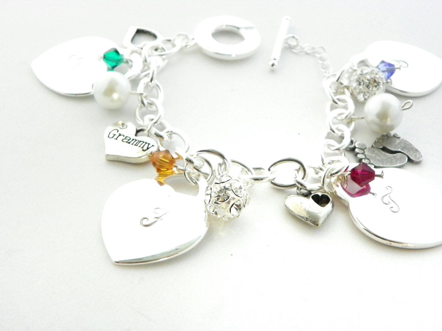 personalized charm bracelet sted by
