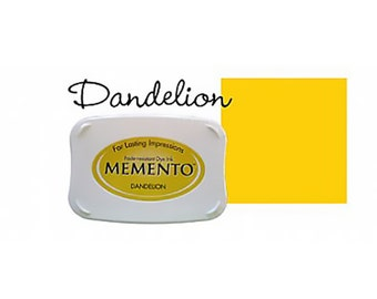 Memento Dye Full Size Water Based Ink Pad DANDELION Yellow