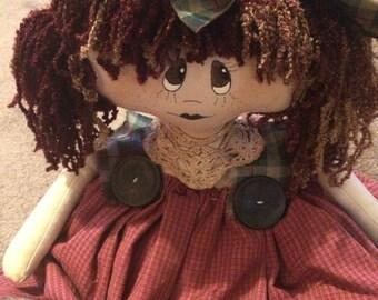 Handmade Primitive Finished Doll