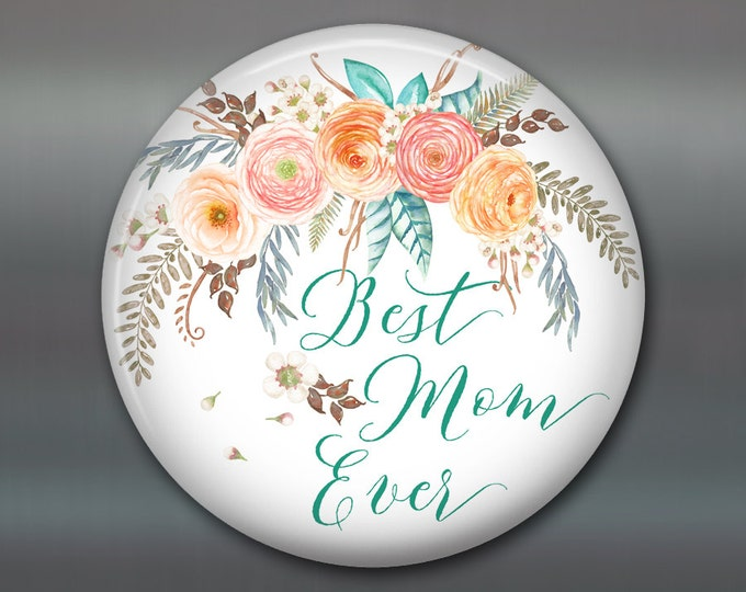 "3.5"" Mother's day card, mother's day bouquet, flower fridge magnet, flower decor, kitchen decor MA-1406"