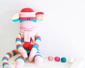 2 Sock Monkey Craft Kits