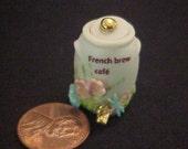 Dollhouse Miniature all porcelain embellish French Ice Water Jug Uyetake