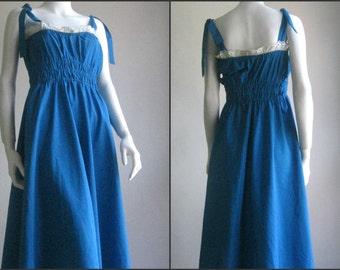 70s 80s Spanish  vtg summer dress