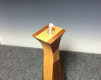 Wood Vase~ Wood Flower Vase~ Wood Oil Lamp~ Rustic Home Decor~ Handcrafted Tall Wood Vase~ Reclaimed Wood Vase
