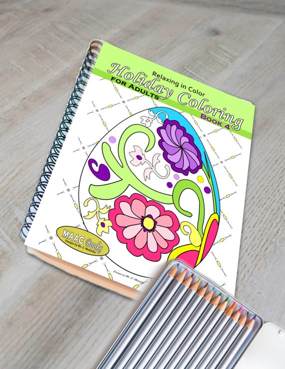 Relaxing In Color Holiday Coloring Book For Adults Volume 4
