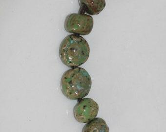 Ceramic Beads Handmade beads stoneware porcelain beads clay beads art Beads variety pack earthy organic artisan jewlery supplies potterygirl