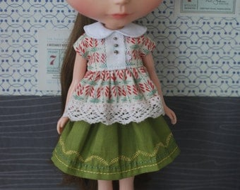 Top and skirt for blythe
